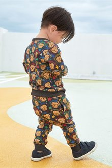 Next Monkey All Over Print Crew And Joggers Set (3mths-7yrs)