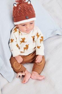 Next Deer Print Sweater And Joggers Set (0mths-2yrs)