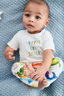 Next Slogan T-Shirt And Leggings Set (0mths-2yrs)