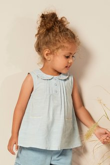 Next Sleeveless Collar Blouse (3mths-7yrs)