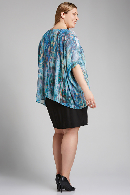 Plus Size - Sara Water Print Dress
