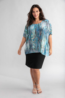 Plus Size - Sara Water Print Dress - 234329