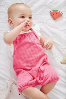 Next Dungarees With Ruffle Bodysuit (0mths-2yrs)