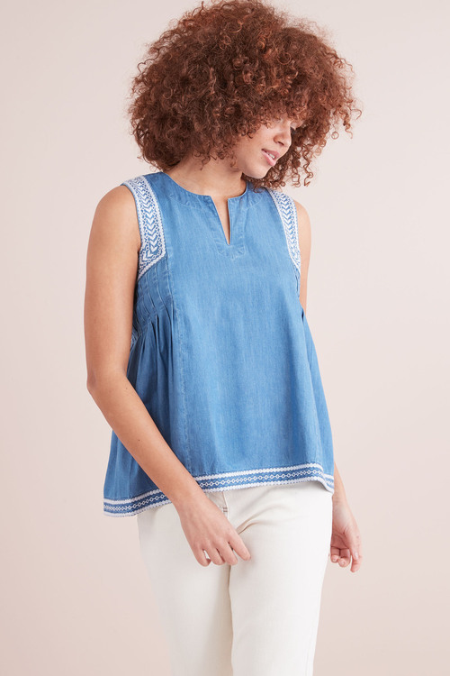 Next Embroidered Woven Top