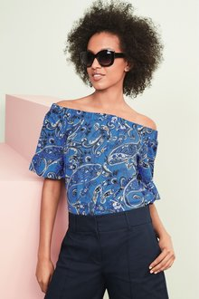Next Off Shoulder Top- Tall