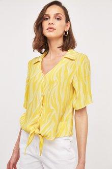 Next Zebra Print Knot Front Shirt