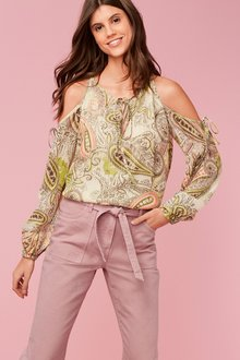 Next Paisley Pattern Cold Shoulder Top