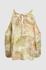 Next Paisley Pattern Cold Shoulder Top