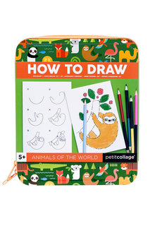 Peticollage Animals How To Draw Travel Activity Kit