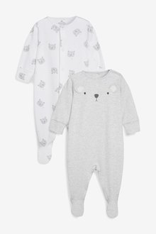 Next Bear Character Sleepsuits Two Pack (0mths-2yrs)