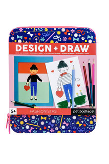 Peticollage Fashionistas Design and Draw Activity Kit