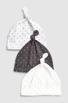 Next Mini Stars Tie Top Hats Three Pack (5-12mths)