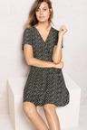 Emerge Asymmetric Button Dress