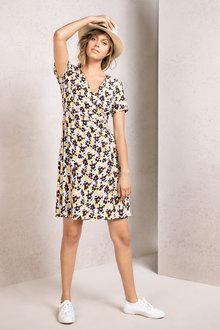 Emerge Asymmetric Button Dress - 234425