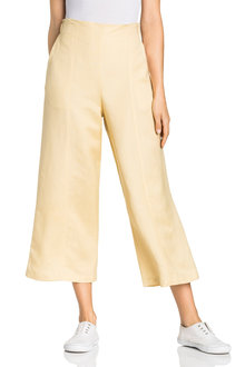Emerge Linen Blend Crop Pants - 234427