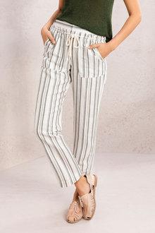 Emerge Linen Blend Pocket Detail Pants - 234435
