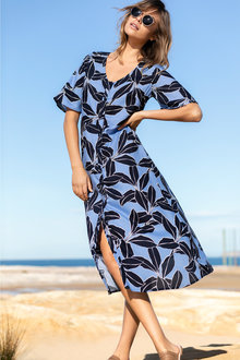 Emerge Flutter Sleeve Midi Dress
