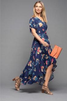 Grace Hill Wrap Hi-Low Dress
