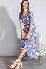 Grace Hill Hi-Low Wrap Dress