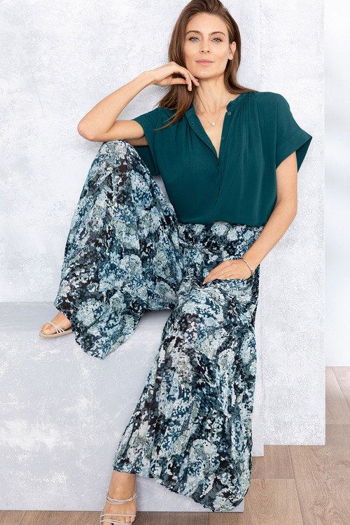 Grace Hill Pleated Wide Leg Pants