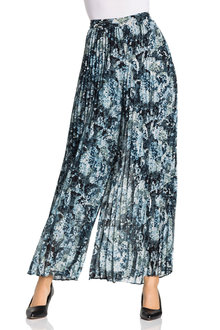 Grace Hill Pleated Wide Leg Pants - 234445