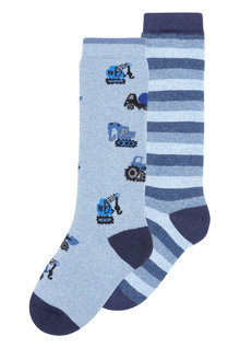 Next Car Welly Socks Two Pack (Younger)