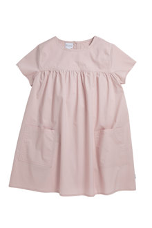 Pumpkin Patch Woven Smock Dress with Pockets - 234463