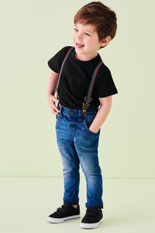Next Rainbow Braced Jeans (3mths-7yrs)