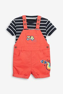 Next Dungarees With T-Shirt (3mths-7yrs)