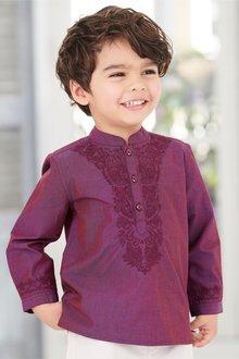 Next Embroidered Kaftan Shirt (3mths-6yrs)