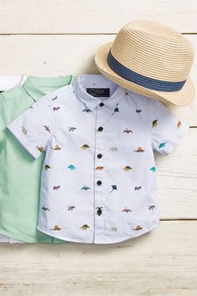 Next Short Sleeve All Over Print Dino Shirt (3mths-7yrs)
