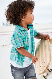 Next Short Sleeve Check Shirt (3mths-7yrs)