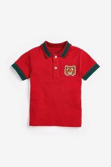 Next Tiger Short Sleeve Poloshirt (3mths-7yrs)