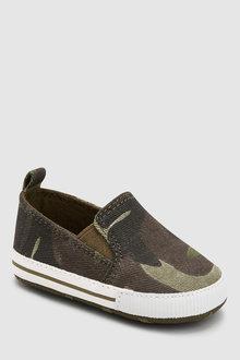Next Pram Slip-On Shoes (0-24mths)