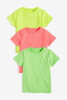 Next Plain T-Shirts Three Pack (3mths-7yrs)