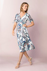 Capture Mock Wrap Midi Dress
