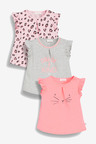 Next Fluro T-Shirts Three Pack (0mths-2yrs)