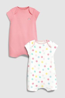 Next Spot Rompers Two Pack (0mths-2yrs)