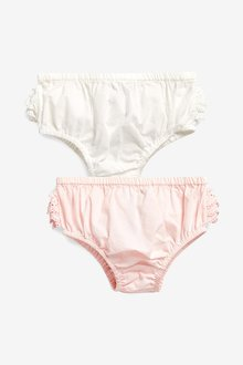Next Woven Frill Knickers Two Pack (0mths-2yrs)