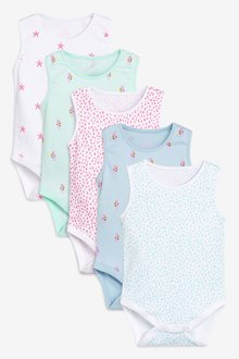Next Under The Sea Vests Five Pack (0mths-2yrs)