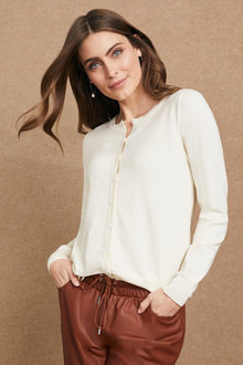 Grace Hill Cashmere Blend Cardigan - 234593