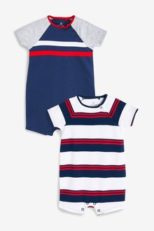 Next Striped Rompers Two Pack (0mths-2yrs)