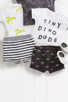 Next Dino Print Shorts Two Pack (0mths-2yrs)