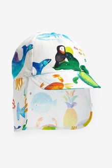 Next Sea Print Legionnaire Hat (0mths-2yrs)