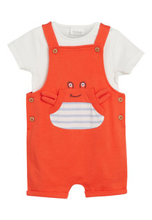 Next Crab Dungarees And Bodysuit Set (0mths-2yrs)