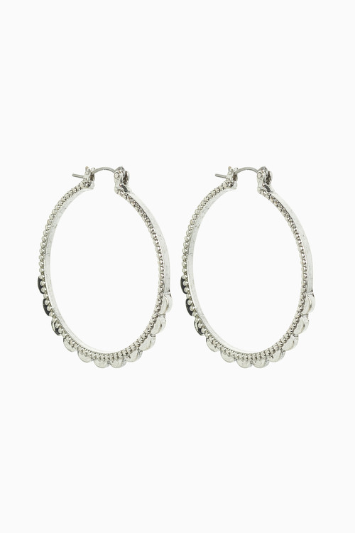 Next Scallop Detail Hoop Earrings
