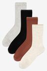 Next Cushioned Sole Rib Socks Four Pack