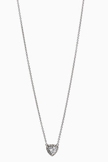 Next Platinum Plated Stone Detail Necklace