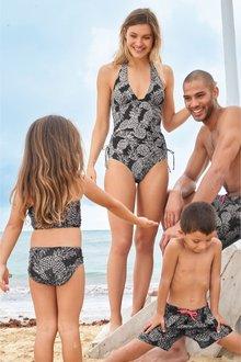 Next Matching Family Womens Pineapple Print Halter Neck Tanksuit