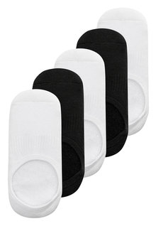 Next Cushioned Footbed Invisible Trainer Socks Five Pack (Older)